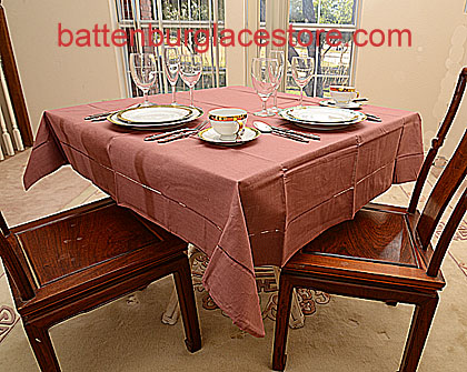 Square Tablecloth.APPLE BUTTER Color 54 Inches Square