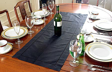 Table Runner Solid Black Color 16x36