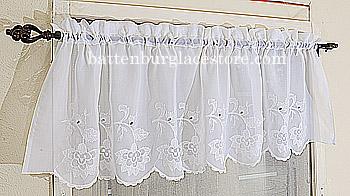 Sheer Windows Valacne Lace Susan Style 094 White 18x60 Valance 94 W 10 00 Battenburg Store The Home Fashion Center