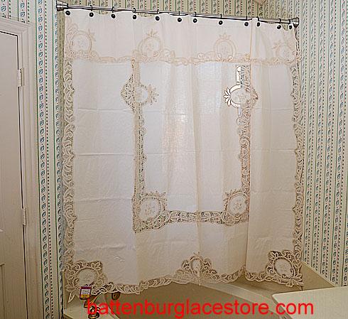 Shower Curtain Battenburg Lace Store The Home Fashion Center